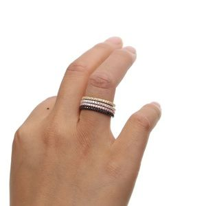 Rose Gold Eternity Band | 925 Sterling Silver